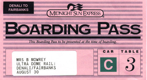 Boarding Pass for Train