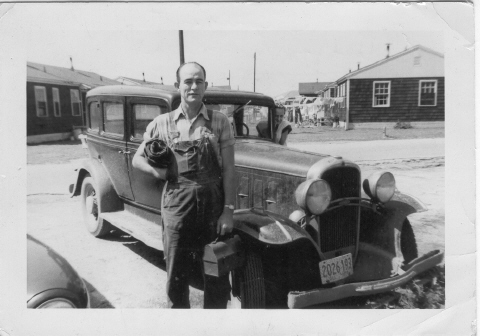 Dad and his 1921 Olds.