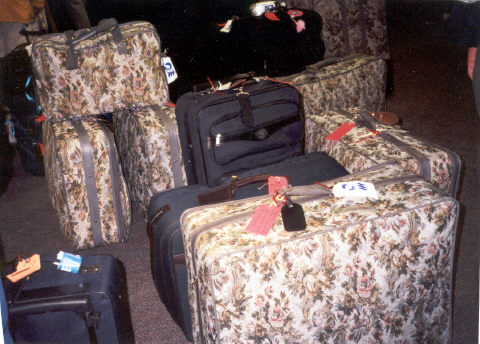 Luggage at Fairbanks Airport