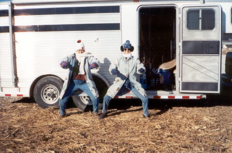 Pat, Donna & Horse Trailer